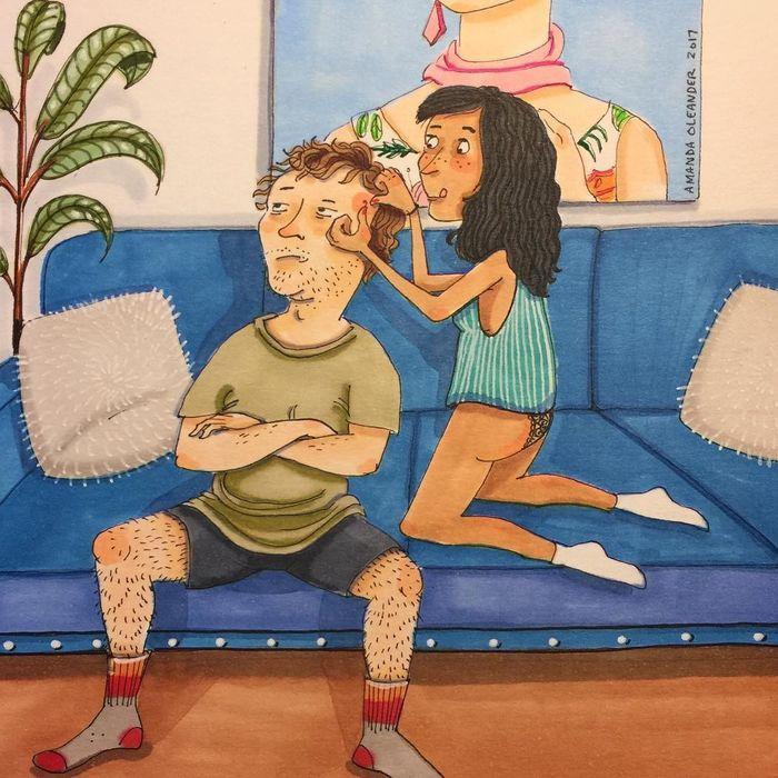 Càng yêu nhau, người ta càng thoải mái, thân thiết với nhau như thế này.