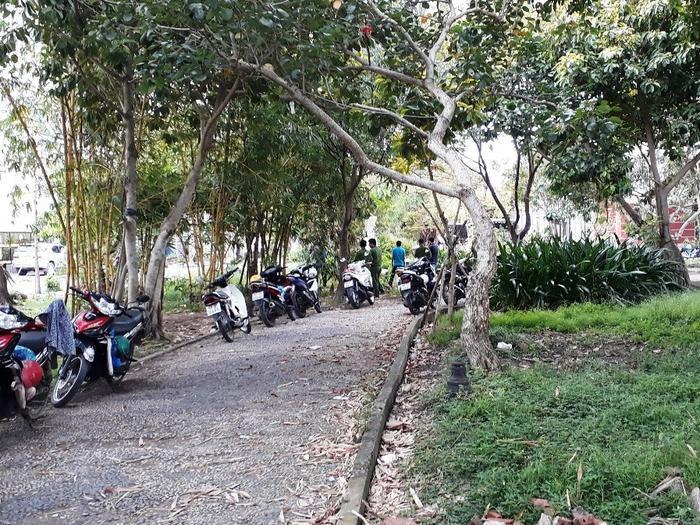 Công viên nơi phát hiện thi thể bé sơ sinh đang phân hủy
