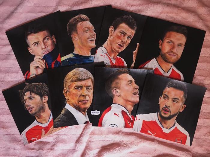 Fan Arsenal Việt vẽ tranh tuyệt đẹp được Mesut Ozil đích thân cám ơn