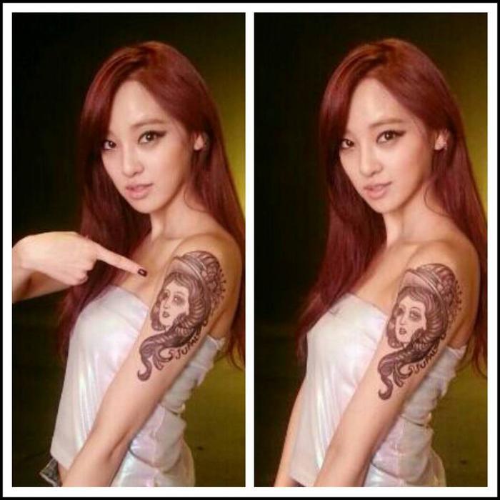Đặc biệt, fan phát hiện cô nàng có sở thích xăm mình giống trưởng nhóm G-Dragon.