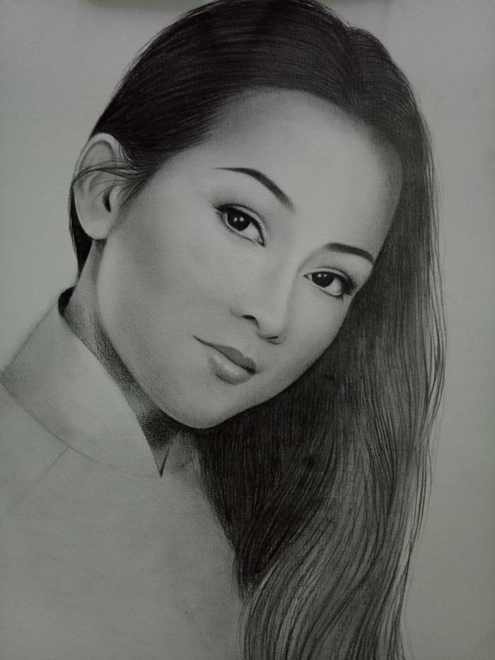 Nét vẽ sắc sảo của người hâm mộ dành cho ca sĩ Như Quỳnh.