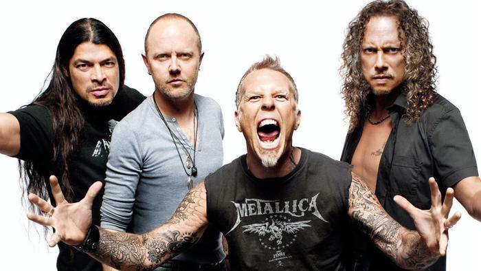 Metallica ở vị trí thứ 3.