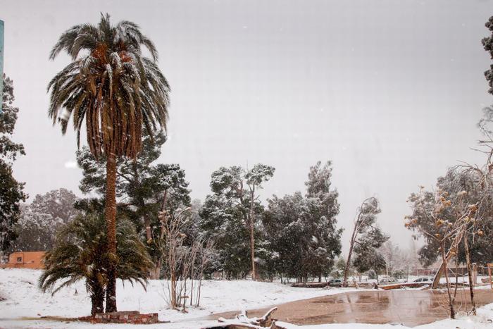 Theo các chuyên gia, trong những tháng gần đây, khối không khí lạnh từ châu Âu tràn xuống phía nam, từ đó dẫn tới tình trạng lạnh giá tại Bắc Phi.