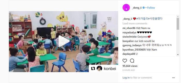 Được biết người quay lại đoạn clip chính là cô giáo của lớp và cũng là một iKONIC chính hiệu.