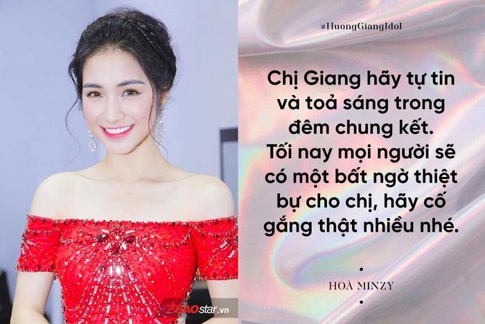 Hoà Minzy hứa sẽ có bất ngờ cho Hương Giang trong đêm chung kết Hoa hậu Chuyển giới Quốc tế 2018.