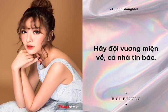 Bích Phương tin Hương Giang sẽ mang về vinh quang cho Việt Nam.