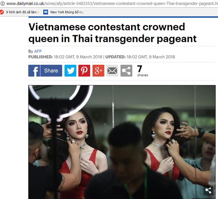 Tờ Daily Mail của Anh cũng dẫn lại bài viết của AFP về sự kiện này.