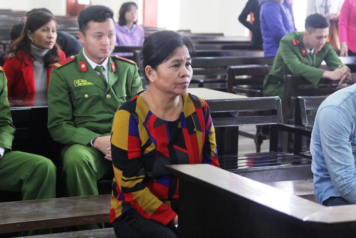 Bị cáo Hà tại phiên tòa.