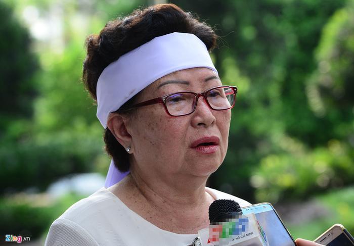 Bà Dự, em gái của nguyên Thủ tướng Phan Văn Khải. Ảnh:Lê Quân.