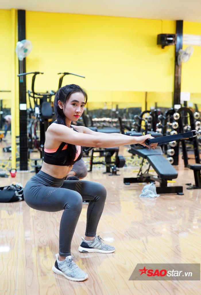 Ngoài việc tập luyện cho bản thân, Kim Nguyên cho biết sẵn sàng giúp đỡ các cô gái khác trong lần đầu đi tập môn thể thao này.