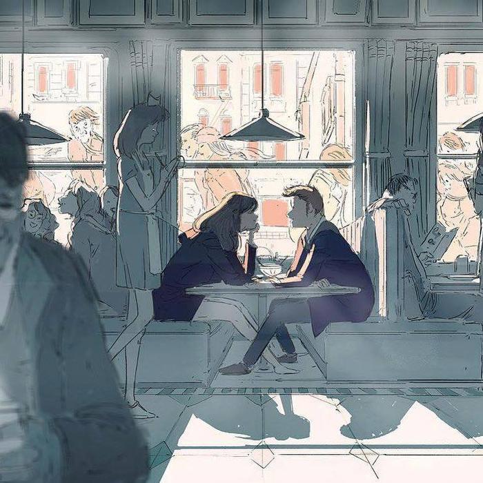 Khi hai người yêu đang ở cạnh nhau, thì đám đông xung quanh dường như tan biến, chỉ còn họ với những câu chuyện kể.