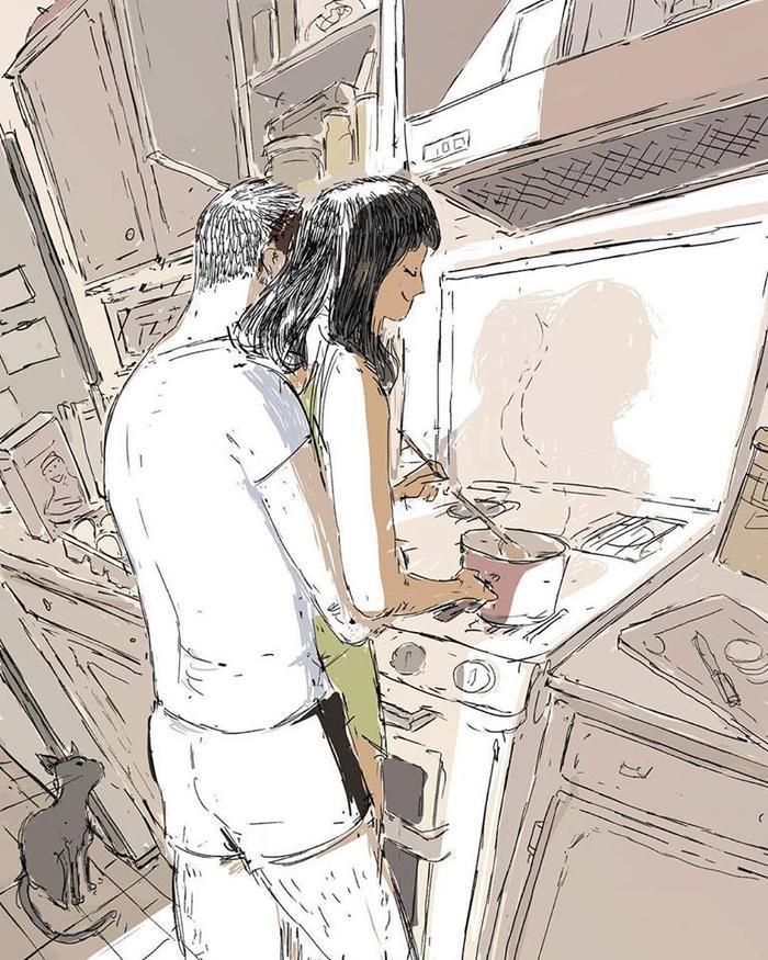 Nấu ăn cho người mình yêu là một hạnh phúc.