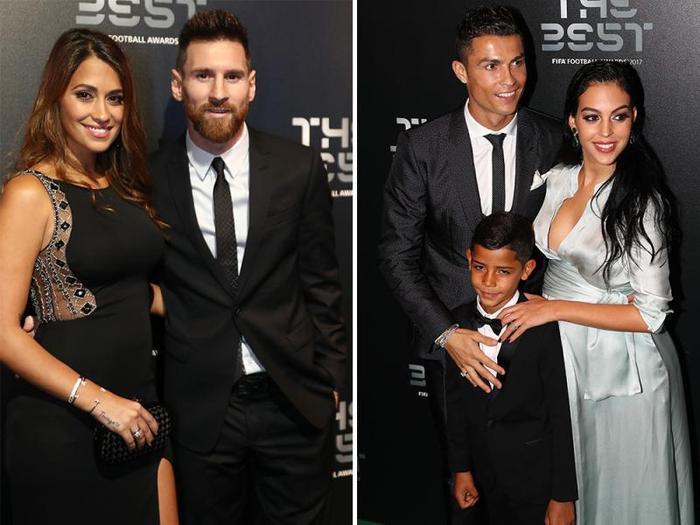 2 cô gái luôn là tâm điểm chú ý trong các sự kiện mà Ronaldo và Messi cùng góp mặt.