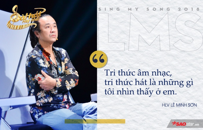 """Dù đã hết suất nhưng HLV Lê Minh Sơn vẫn gạt cần cho Đinh Tuấn Anh, """"không phải vì làm màu mà vì tri thức âm nhạc mà bạn sở hữu""""."""