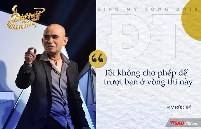 """Khẳng định Nguyễn Hoàng Duy là cái duyên của Sing My Song, HLV Đức Trí nhanh chóng gạt cần cho anh chàng. Tuy nhiên, chiêu """"thả thính"""" này mới độc nhất."""