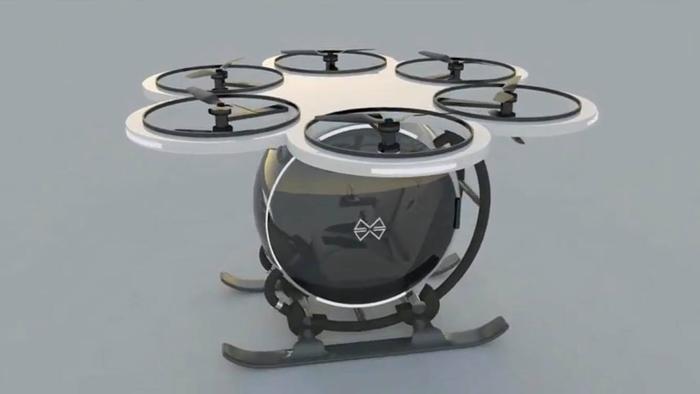 Mô hình máy bay một người lái trong tương lai mà anh Trí thiết kế.