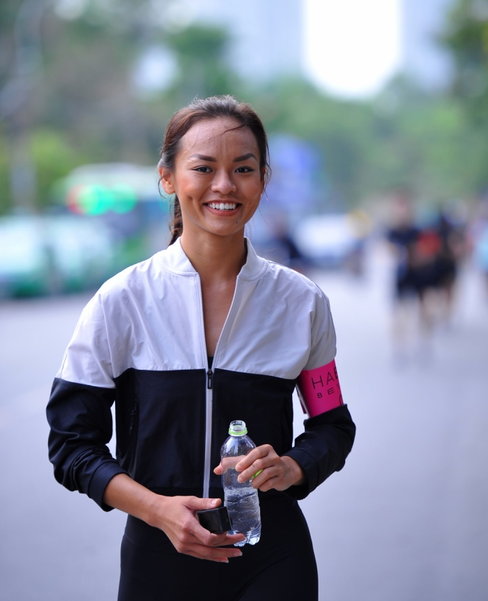 Nụ cười rạng rỡ của Á quân The Face Vietnam mùa đầu tiên.