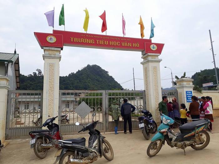 Trường tiểu học Vân Hồ nơi xảy ra sự việc.