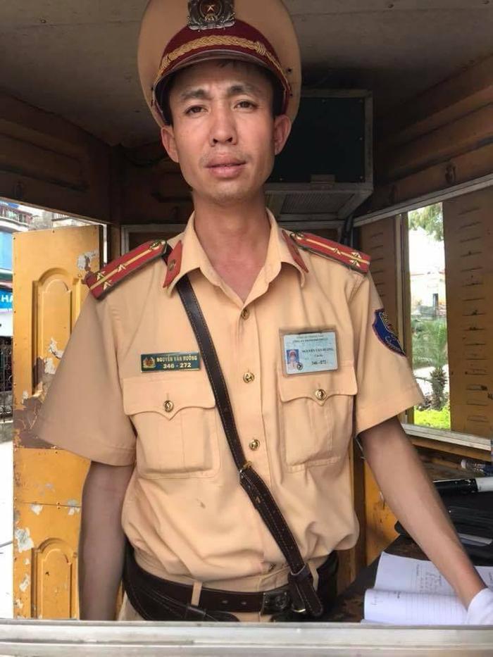 Thượng úy Nguyễn Văn Hưởng - người khiến dư luận tâm phục, khẩu phục vì cách xử phạt hợp tình, hợp lý.