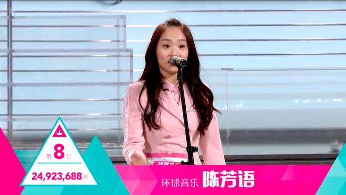 Vị trí thứ 8 thuộc về Trần Phương Ngữ - cô gái gây ấn tượng với màn trình diễn ca khúc Problem tại vòng xếp lớp.