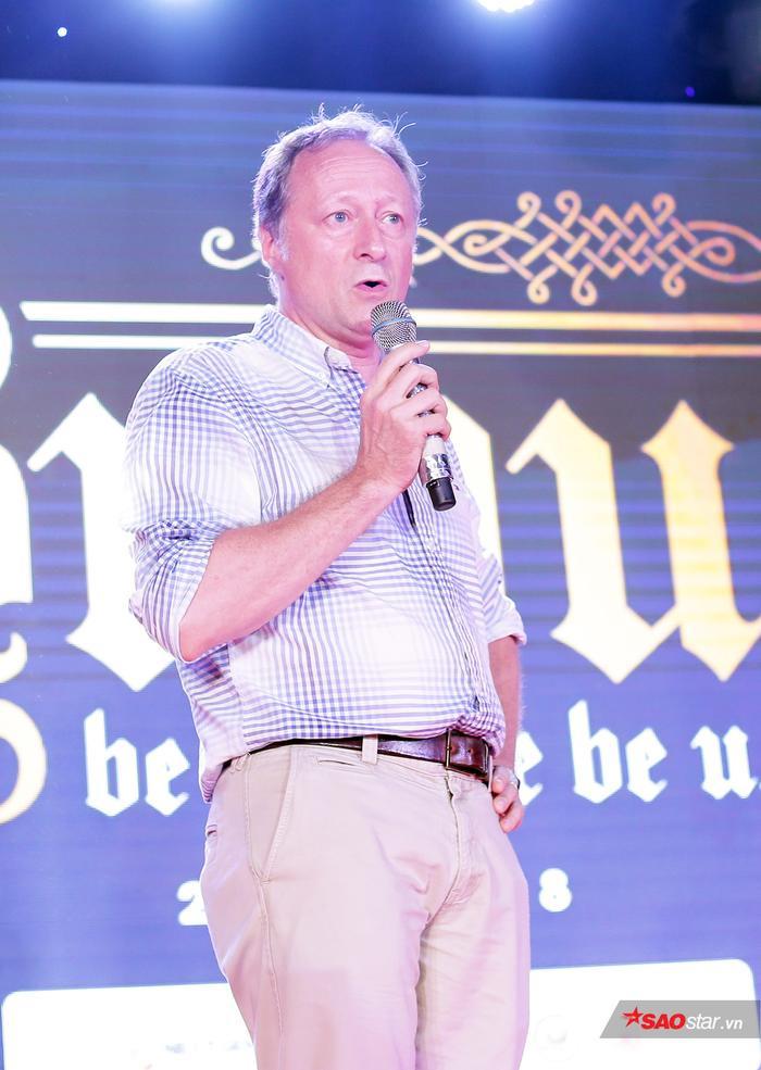 Ông Bruno Angelet - Trưởng Phái đoàn Liên minh châu Âu tại Việt Nam phát biểu tại sự kiện