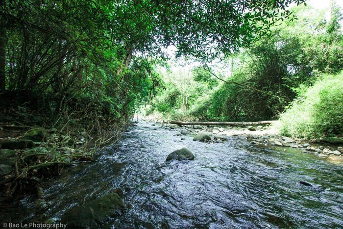 Suối Phan Dũng mùa mưa rất nguy hiểm. Ảnh: Lê Quốc Bảo