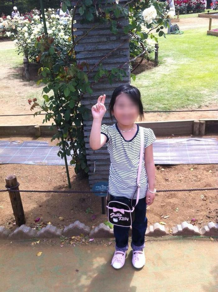Chân dung bé gái bị sát hại tại Nhật Bản.