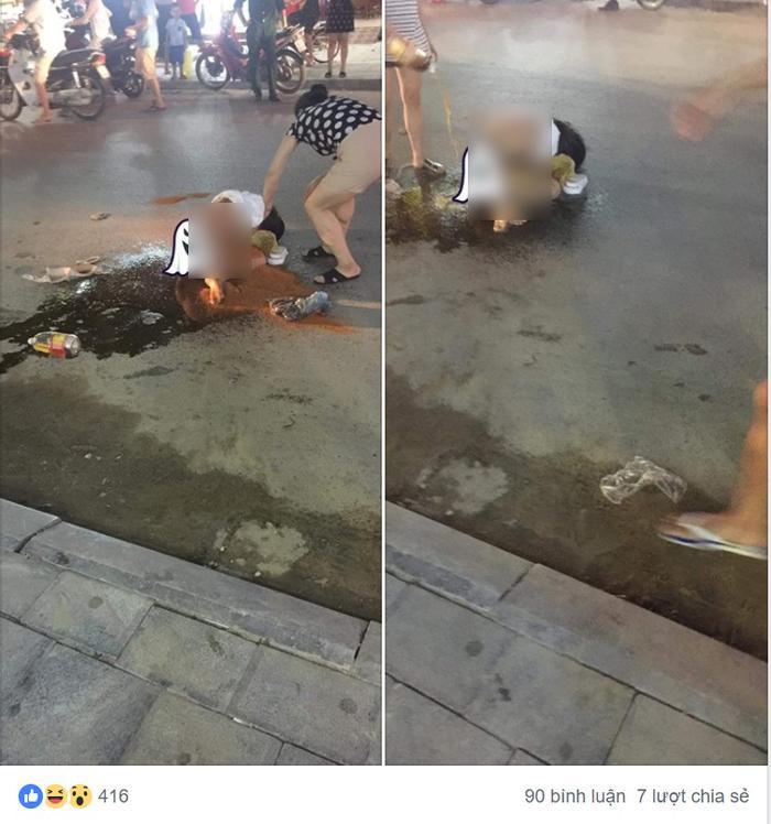 Hình ảnh vụ đánh ghen đang gây xôn xao. Ảnh:L.G.