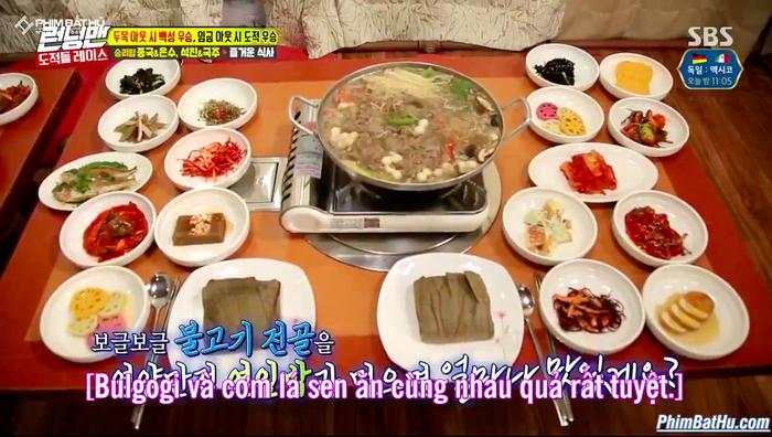Bữa ăn hấp dẫn càng khiến Jae Suk không thể đứng yên.