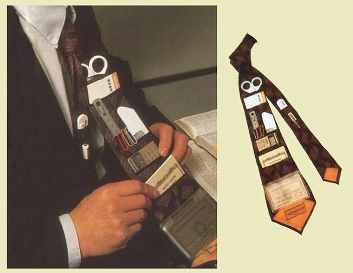 Biến cà vạt thành ô chưa đủ, người Nhật Bản còn thiết kế nó trở thành một chiếc ví đa năng như thế này đây.