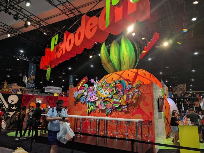 Hình ảnh quầy hàng của Nickelodeon tại Comic Con năm nay.