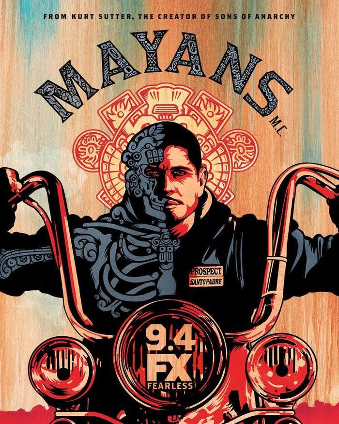 """Poster của """"Mayans M.C."""" - spin-off từ tựa phim đình đám """"Son of Anarchy""""."""