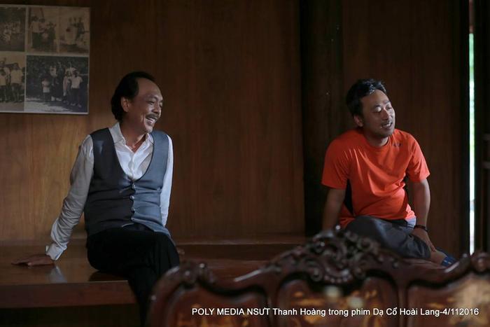 """Cố nghệ sĩ Thanh Hoàng và đạo diễn Nguyễn Quang Dũng của """"Dạ cổ hoài lang"""" bản điện ảnh."""