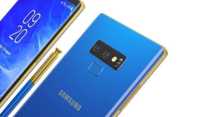 Ảnh dựng Samsung Galaxy Note9.