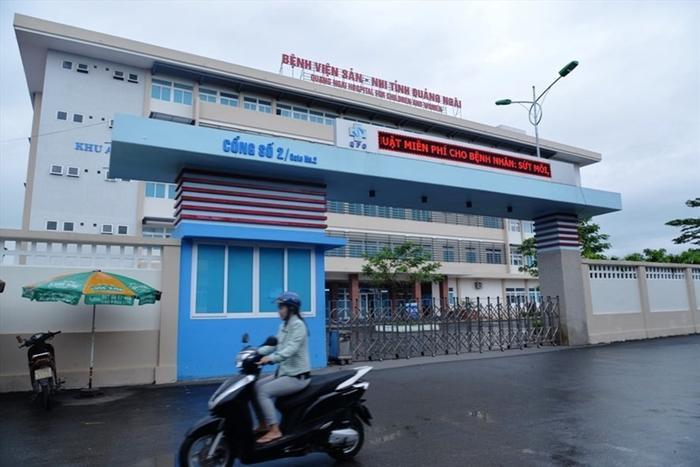 Bệnh viện Sản nhi Quảng Ngãi - nơi xảy ra sự việc đau lòng. Ảnh: Báo Lao Động.