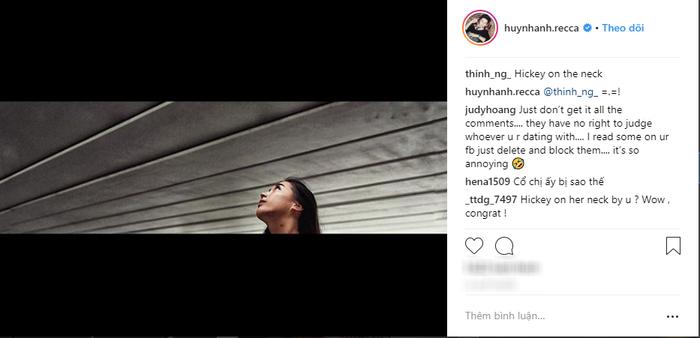 Dân mạng vô cùng tinh mắt khi phát hiện vết bầm tím ở cổ bạn gái mới Huỳnh Anh.