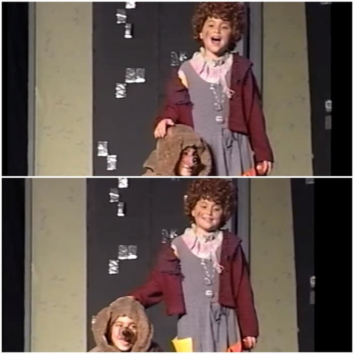 Cô bé Ariana 8 tuổi với chiếc váy đáng yêu cùng mái tóc xoăn tít trông rất ngộ nghĩnh.