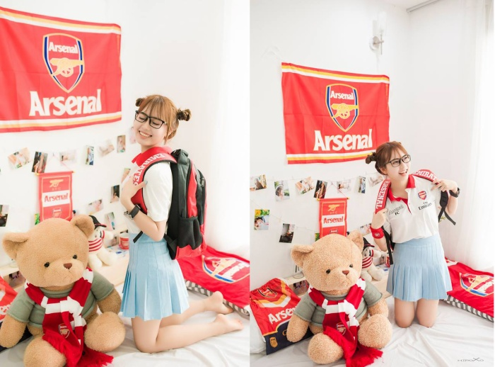 """Gương mặt xinh xắn, nụ cười tỏa nắng và am hiểu bóng đá, Trần Hảo là """"cô gái trong mơ"""" của các chàng trai"""