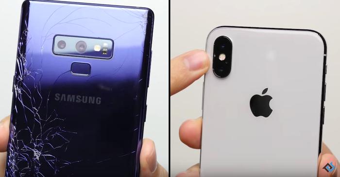 Thử thả rơi iPhone X và Samsung Galaxy Note9 để đọ độ bền và cái kết bất ngờ ảnh 0