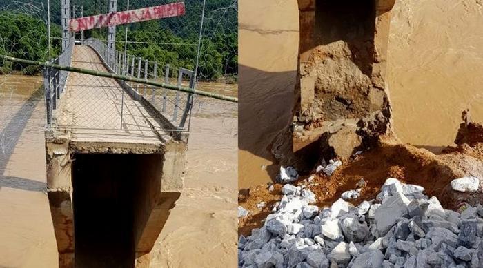 Cầu Chôm Lôm bị đứt gãy