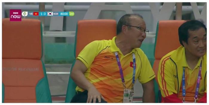 Hình ảnh tươi cười trong thất bại của Olympic Việt Nam trước Olympic Hàn Quốc khiến HLV Park Hang Seo.