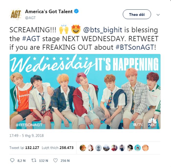 Chưa từng xảy ra trong lịch sử: BTS - Boygroup Kpop đầu tiên trở thành khách mời biểu diễn tại America's Got Talent