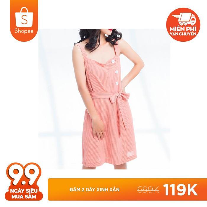 Hãy để tủ quần áo của bạn thêm sắc màu rạng rỡ với đầm 2 dây xinh xắn được giảm giá sốc từ 699.00 đồng chỉ còn 119.000 đồng.