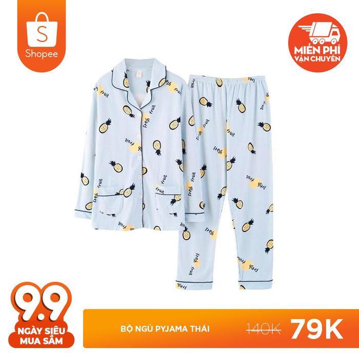 Ngọt ngào hết nấc với bộ ngủ Pyjama Thái hình quả dứa giá chỉ 79.000 đồng (giá gốc 140.000 đồng).