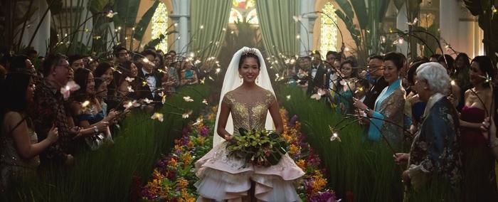 Đám cưới của Colin và Araminta cũng gây dấu ấn với lối dẫn dắt độc lạ và bắt mắt.