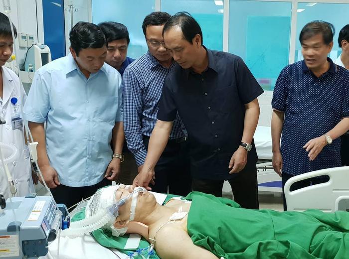 Anh Bình bị chấn thương rất nặng.