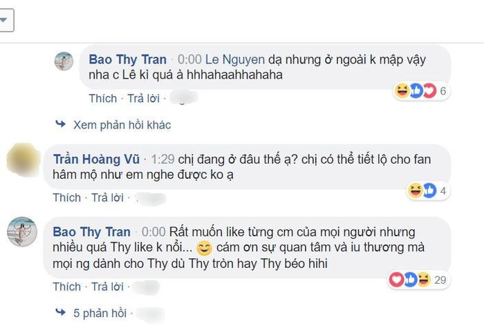 """Cô nàng gốc Sài Thành """"đuối sức"""" khi được fans quan tâm."""