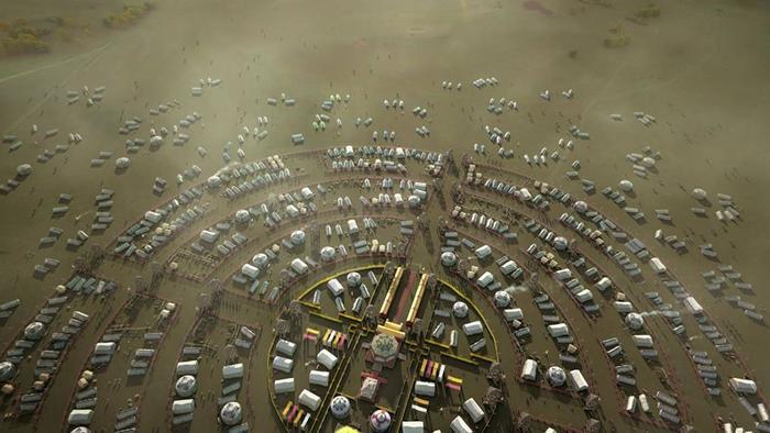 """Tất cả lều đều hướng về căn lều của """"Đại Hãn"""" tức Hoàng đế."""