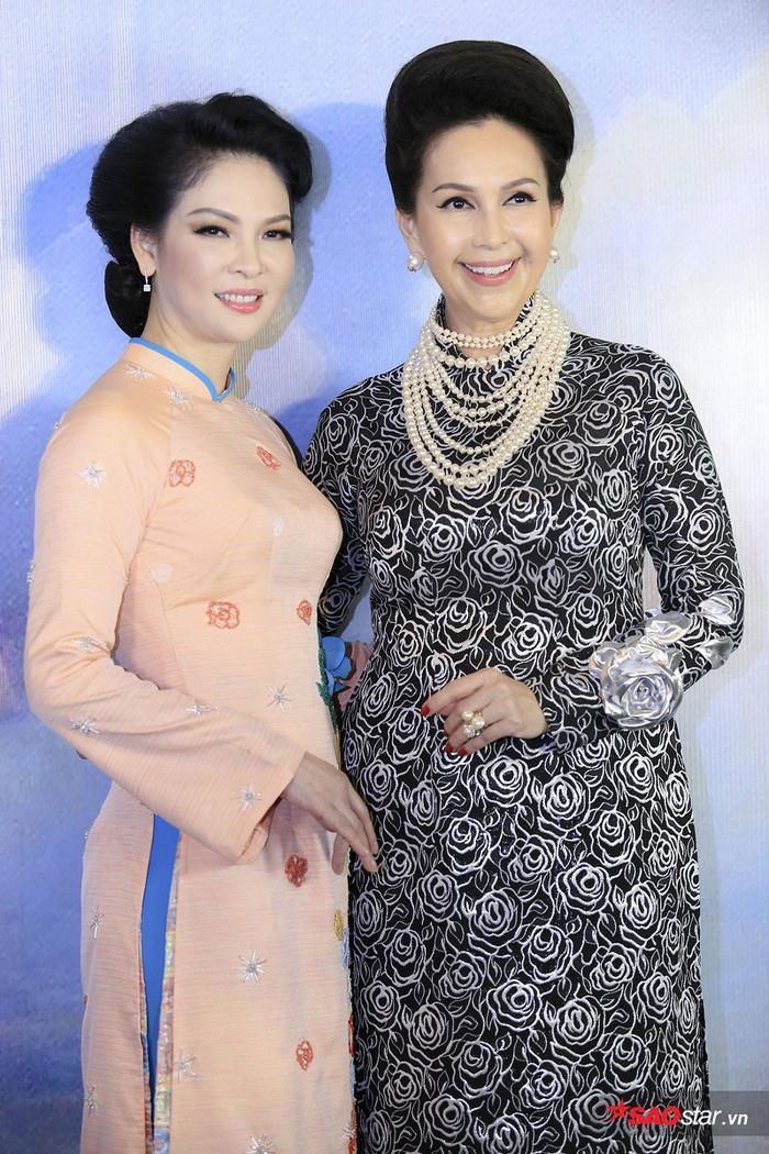 Các người đẹp Thuỷ Hương, Diễm My mặc áo dài đọ 'nhan sắc không tuổi'