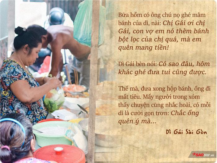 Từ thời con gái vừa tròn đôi mươi, dì Gái đã buôn bán hàng ăn.